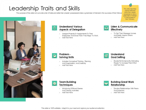 Effective Management Styles For Leaders Leadership Traits And Skills Rules PDF
