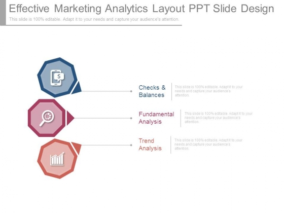 Effective Marketing Analytics Layout Ppt Slide Design