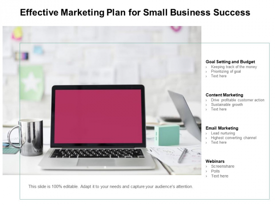 Effective Marketing Plan For Small Business Success Ppt PowerPoint Presentation Inspiration Summary