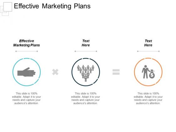 Effective Marketing Plans Ppt PowerPoint Presentation Sample Cpb