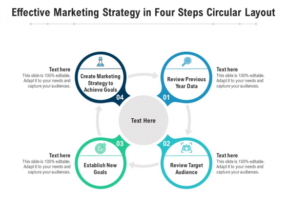 Effective Marketing Strategy In Four Steps Circular Layout Ppt PowerPoint Presentation File Ideas PDF