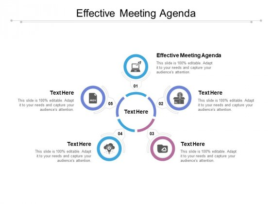 Effective Meeting Agenda Ppt PowerPoint Presentation Pictures Demonstration Cpb