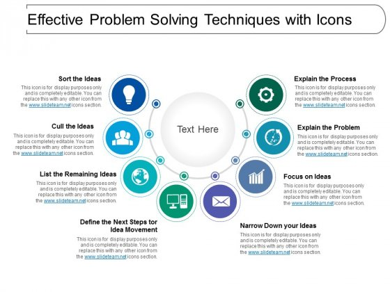 Effective Problem Solving Techniques With Icons Ppt PowerPoint Presentation Portfolio Example File