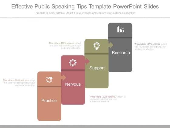 Effective Public Speaking Tips Template Powerpoint Slides