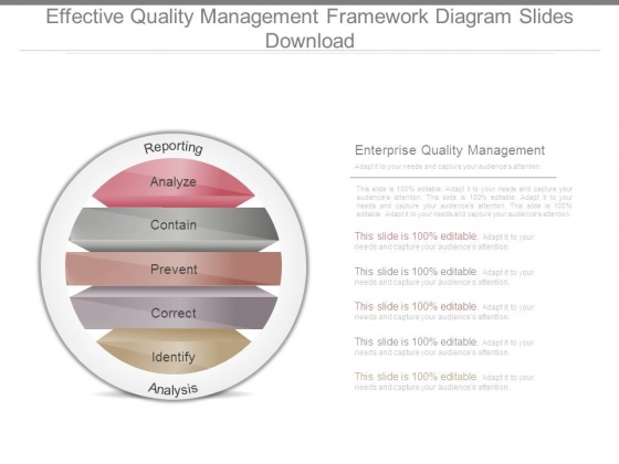 Effective Quality Management Framework Diagram Slides Download
