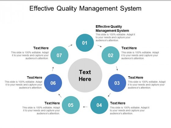 Effective Quality Management System Ppt PowerPoint Presentation Model Visual Aids