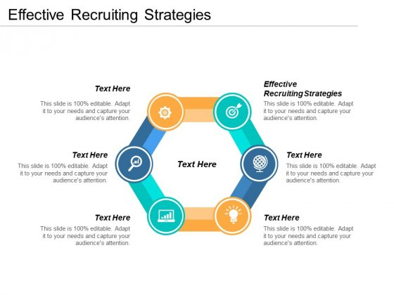 Effective Recruiting Strategies Ppt PowerPoint Presentation Outline Graphics Example Cpb