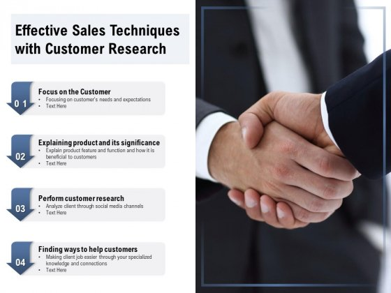 Effective Sales Techniques With Customer Research Ppt PowerPoint Presentation Icon Example File