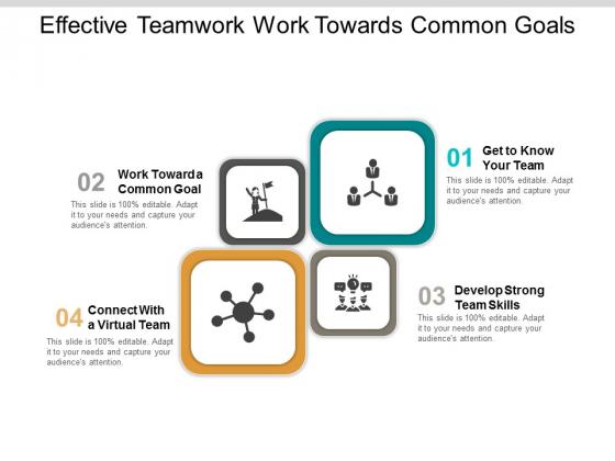 Effective Teamwork Work Towards Common Goals Ppt PowerPoint Presentation Introduction