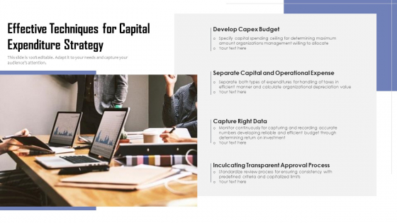 Effective Techniques For Capital Expenditure Strategy Ppt PowerPoint Presentation File Format PDF