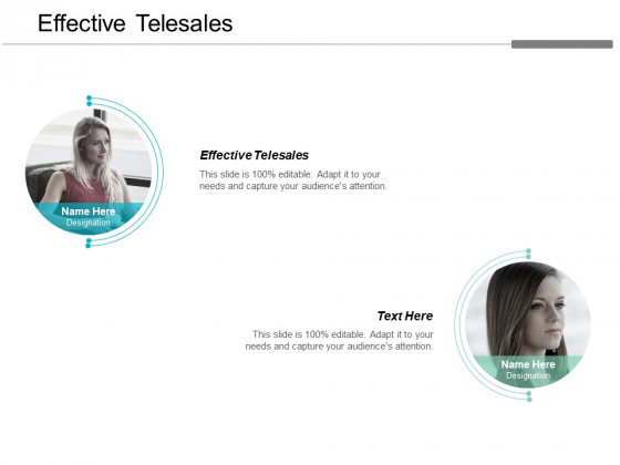 Effective Telesales Ppt PowerPoint Presentation Layouts Demonstration Cpb