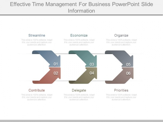 Effective Time Management For Business Powerpoint Slide Information