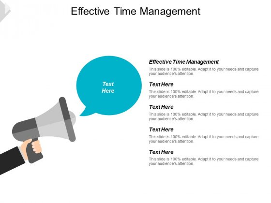 Effective Time Management Ppt Powerpoint Presentation Outline File Formats Cpb