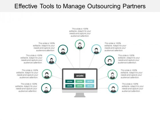 Effective Tools To Manage Outsourcing Partners Ppt PowerPoint Presentation Slides