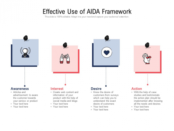 Effective Use Of AIDA Framework Ppt PowerPoint Presentation Gallery Maker PDF