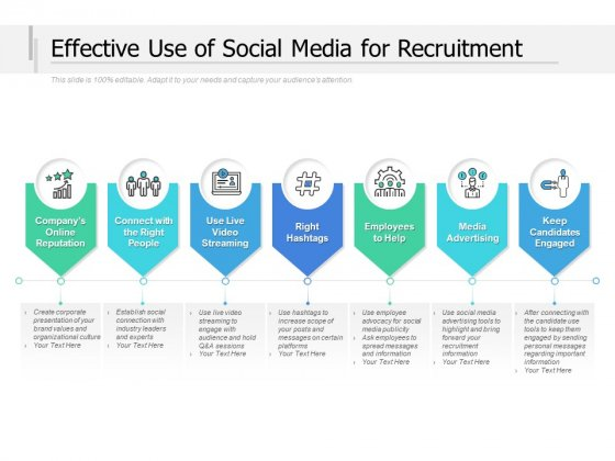 Effective Use Of Social Media For Recruitment Ppt PowerPoint Presentation Inspiration Slide