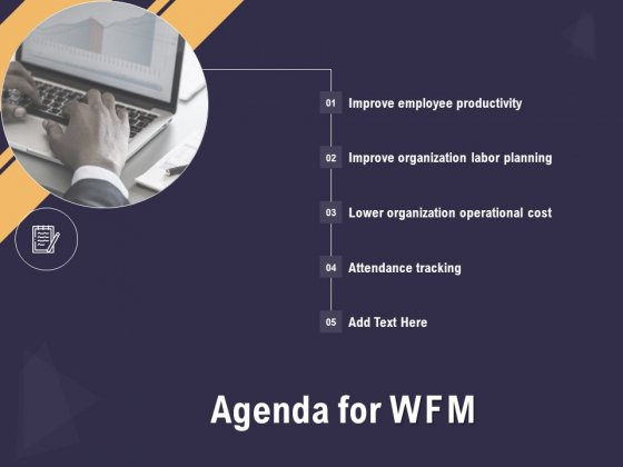 Effective Workforce Management Agenda For Wfm Ppt PowerPoint Presentation Summary Slideshow PDF