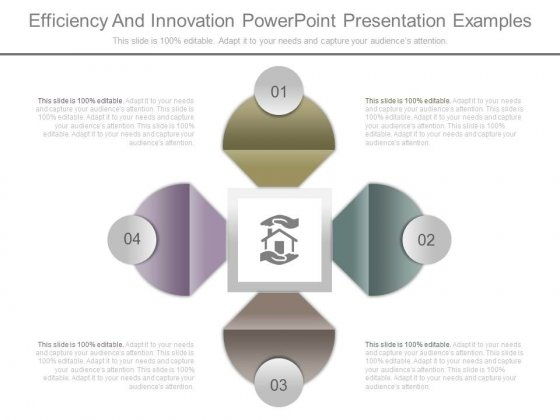 Efficiency And Innovation Powerpoint Presentation Examples