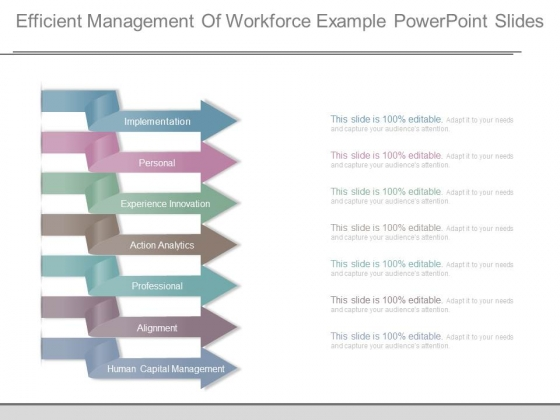 Efficient Management Of Workforce Example Powerpoint Slides