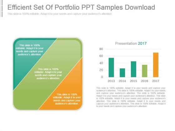Efficient Set Of Portfolio Ppt Samples Download