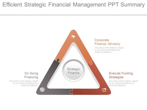 Efficient Strategic Financial Management Ppt Summary