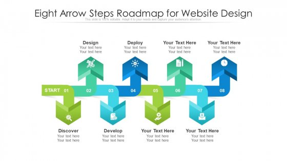 Eight Arrow Steps Roadmap For Website Design Ppt PowerPoint Presentation File Inspiration PDF