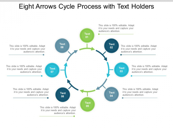 Eight Arrows Cycle Process With Text Holders Ppt Powerpoint Presentation Outline Example