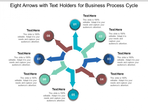 Eight Arrows With Text Holders For Business Process Cycle Ppt Powerpoint Presentation Infographics Example Introduction