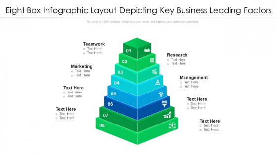 Eight Box Infographic Layout Depicting Key Business Leading Factors Ppt PowerPoint Presentation File Tips PDF