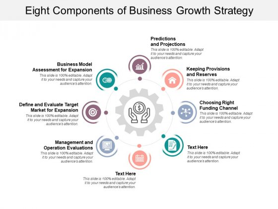 Eight Components Of Business Growth Strategy Ppt PowerPoint Presentation Model Information