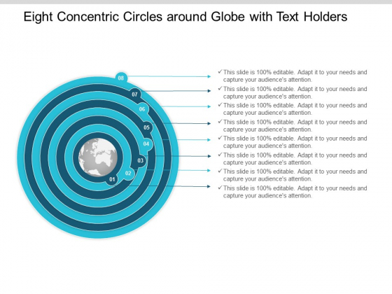 Eight Concentric Circles Around Globe With Text Holders Ppt Powerpoint Presentation Layouts Inspiration