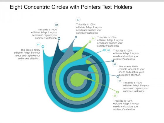 Eight Concentric Circles With Pointers Text Holders Ppt Powerpoint Presentation Portfolio Objects