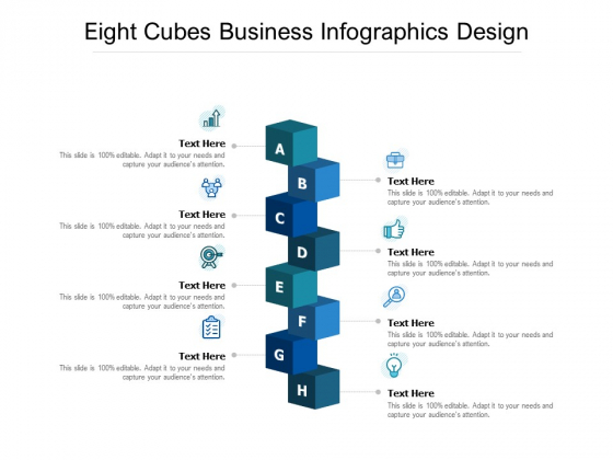Eight Cubes Business Infographics Design Ppt PowerPoint Presentation Outline Diagrams