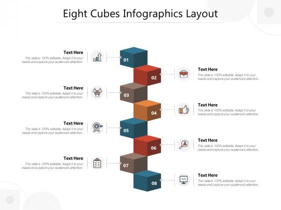 Eight Cubes Infographics Layout Ppt PowerPoint Presentation Ideas Deck