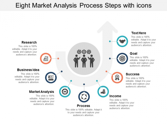 Eight Market Analysis Process Steps With Icons Ppt Powerpoint Presentation Diagram Templates