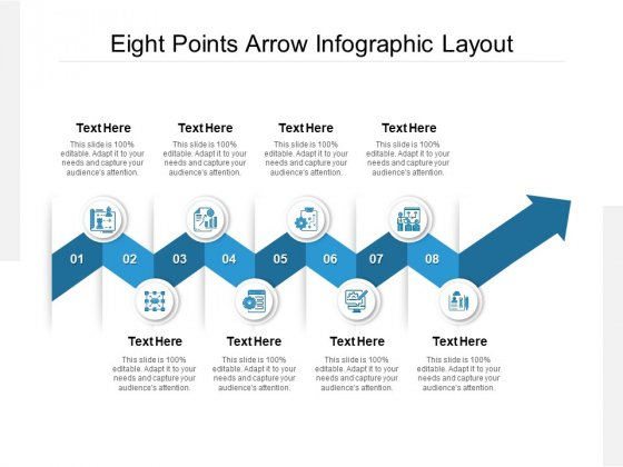Eight Points Arrow Infographic Layout Ppt PowerPoint Presentation Slides Influencers