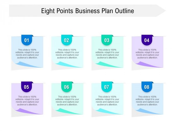 Eight Points Business Plan Outline Ppt PowerPoint Presentation Layouts Objects PDF