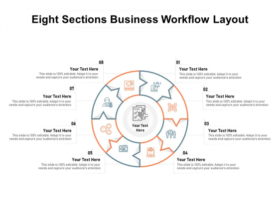 Eight Sections Business Workflow Layout Ppt PowerPoint Presentation Summary Infographic Template