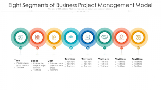 Eight Segments Of Business Project Management Model Ppt PowerPoint Presentation File Smartart PDF