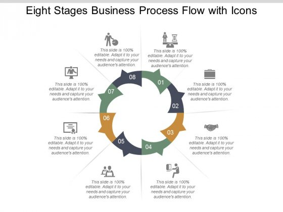 Eight Stages Business Process Flow With Icons Ppt Powerpoint Presentation Ideas Files