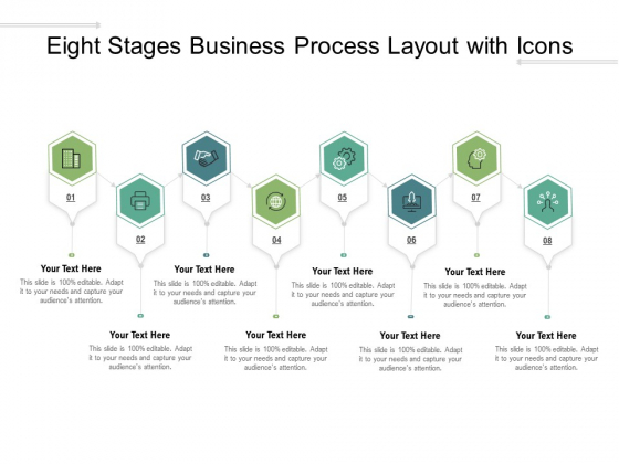 Eight Stages Business Process Layout With Icons Ppt PowerPoint Presentation Infographics Example Introduction