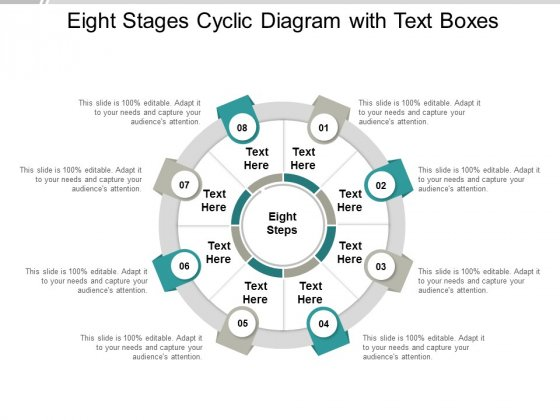 eight stages cyclic diagram with text boxes ppt powerpoint presentation outline examples