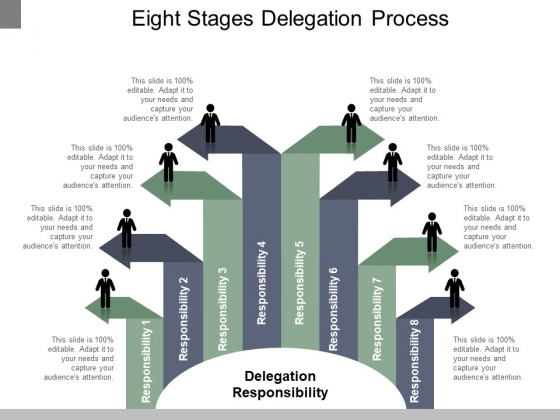 Eight Stages Delegation Process Ppt PowerPoint Presentation Infographics Microsoft
