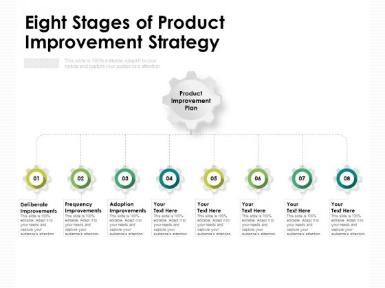 Eight Stages Of Product Improvement Strategy Ppt PowerPoint Presentation Model Backgrounds PDF