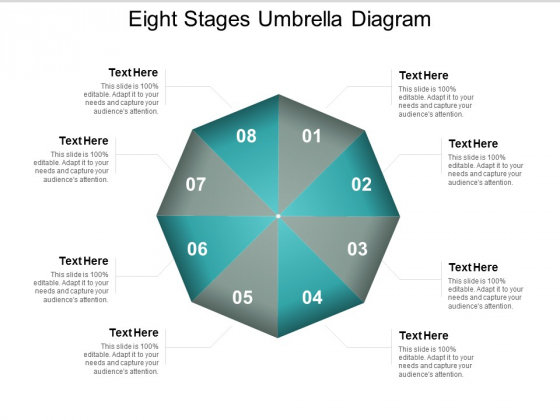 Eight Stages Umbrella Diagram Ppt PowerPoint Presentation Styles Slides