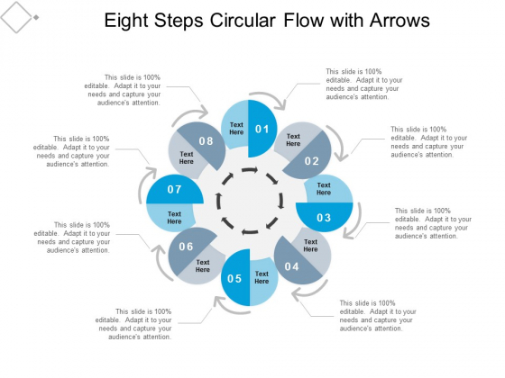 eight steps circular flow with arrows ppt powerpoint presentation portfolio microsoft