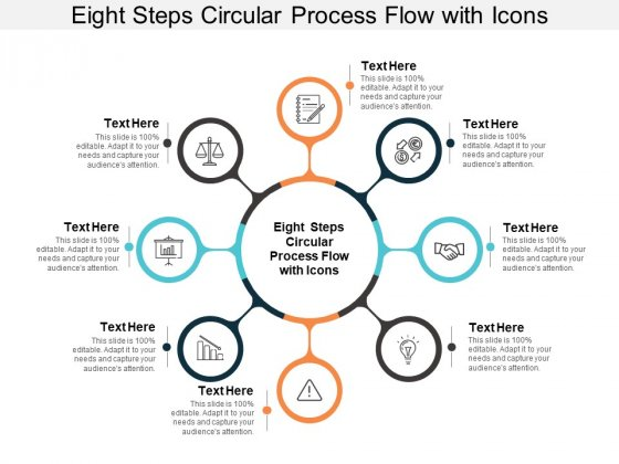 Eight Steps Circular Process Flow With Icons Ppt PowerPoint Presentation Model Infographics