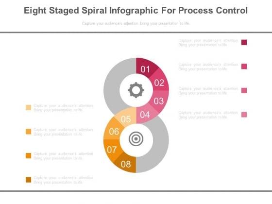 Eight Steps Dashboard Matrics Powerpoint Slides