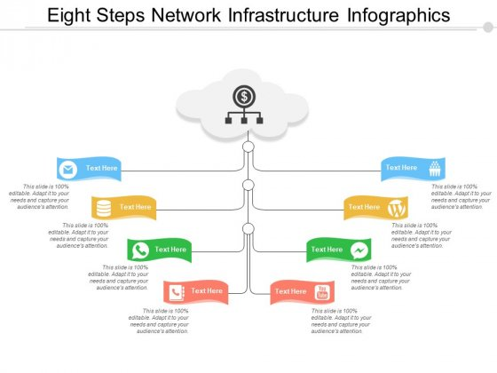 Eight Steps Network Infrastructure Infographics Ppt PowerPoint Presentation Ideas Topics
