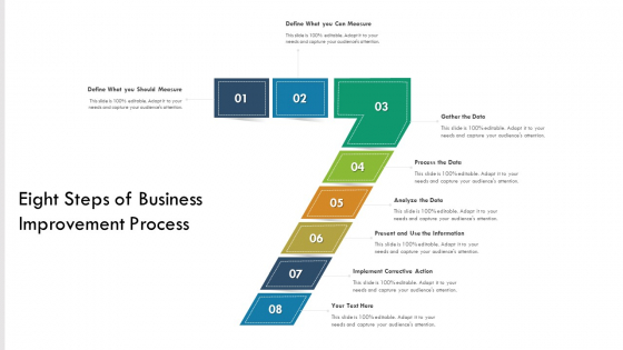 Eight Steps Of Business Improvement Process Ppt PowerPoint Presentation Gallery Aids PDF